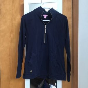 Lily Pulitzer Solid Navy Popover